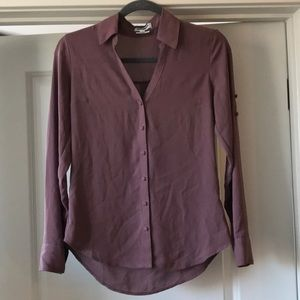 EUC Express Portofino Shirt - Slim Fit Plum Purple